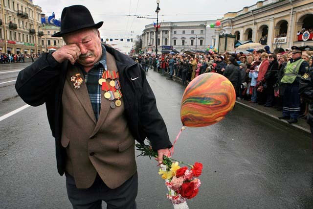 The parade of veterans on Victory Day on May 9 St.Petersburg Russia